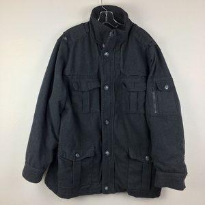 Men's Sportier Wool Military Jacket Wool Blend